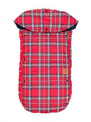 Check sleeping bag Mini Rodini. Цвет: красный