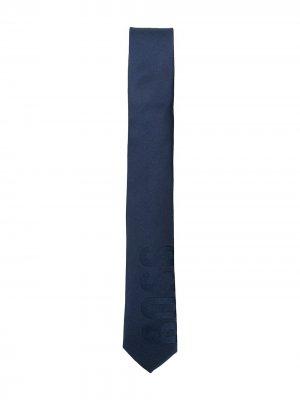 Галстук с логотипом BOSS Kidswear. Цвет: синий