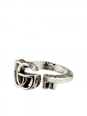 Серебряное кольцо Marmont Gucci. Цвет: серебристый