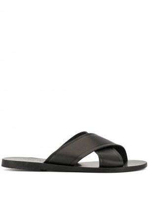 Сандалии Thais с перекрестными ремешками Ancient Greek Sandals. Цвет: черный