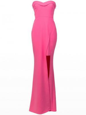 Платье бандо с боковым разрезом Likely. Цвет: розовый
