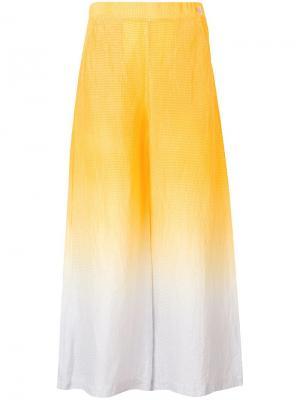 Брюки контрастного цвета Tsumori Chisato. Цвет: желтый