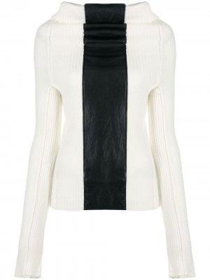 Джемпер со вставками в стиле колор-блок Pierantoniogaspari. Цвет: белый