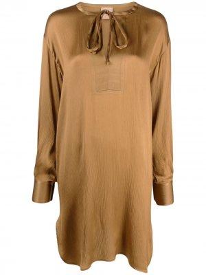 Платье с завязками Nude. Цвет: нейтральные цвета