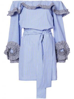 Платье Miquela Alexis. Цвет: синий