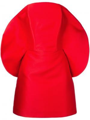 Коктейльное платье со скругленным вырезом Isabel Sanchis. Цвет: красный