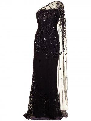 Вечернее платье с тюлем Zuhair Murad. Цвет: черный
