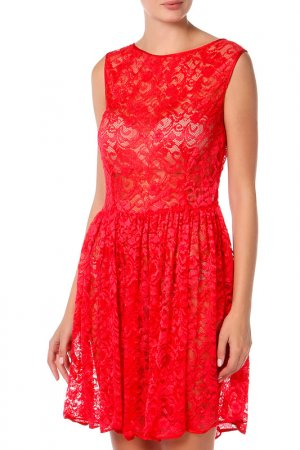Платье American Apparel. Цвет: red leaf flower