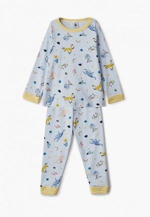 Пижама Petit Bateau. Цвет: голубой