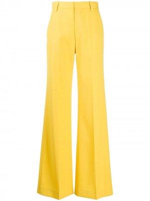 Широкие брюки с завышенной талией Marc Jacobs. Цвет: желтый
