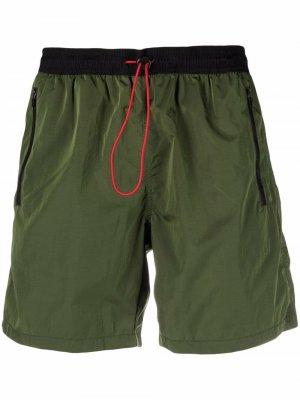 Zip-pocket beach shorts Mc2 Saint Barth. Цвет: черный
