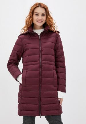Куртка утепленная Stefanel. Цвет: бордовый
