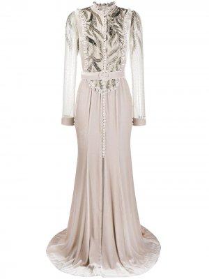 Вечернее платье с пайетками Parlor. Цвет: серый