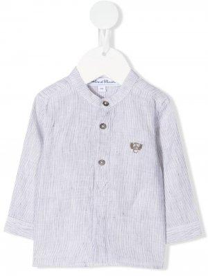 Рубашка с вышитым логотипом Tartine Et Chocolat. Цвет: зеленый