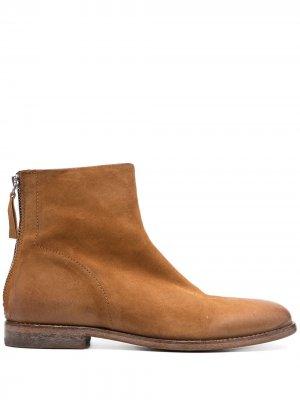 Ботинки на молнии MOMA. Цвет: коричневый