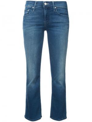 Укороченные облегающие джинсы Mother. Цвет: синий