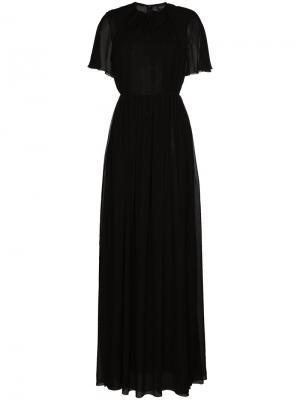 Длинное платье с завязками на горловине Giambattista Valli. Цвет: черный