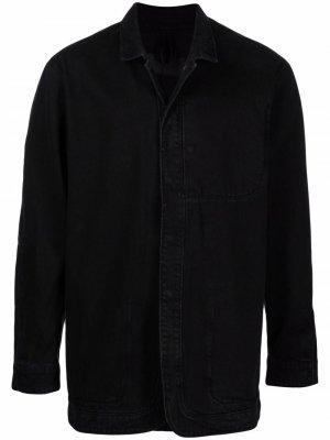 Джинсовая рубашка из органического хлопка Tom Wood. Цвет: черный