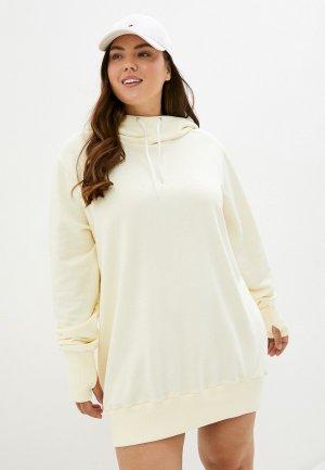 Платье TrendyAngel. Цвет: бежевый