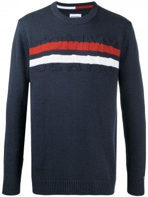 Джемпер с логотипом Tommy Jeans. Цвет: синий