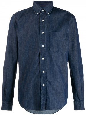 Джинсовая рубашка с длинными рукавами Aspesi. Цвет: синий