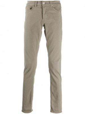 Прямые джинсы средней посадки Dondup. Цвет: нейтральные цвета