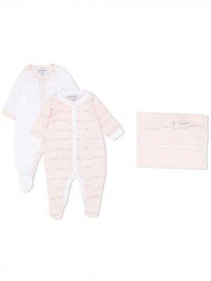 Комплект для новорожденного с логотипом Emporio Armani Kids. Цвет: белый