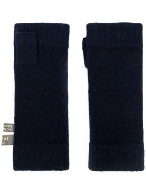 Перчатки-митенки N.Peal. Цвет: синий