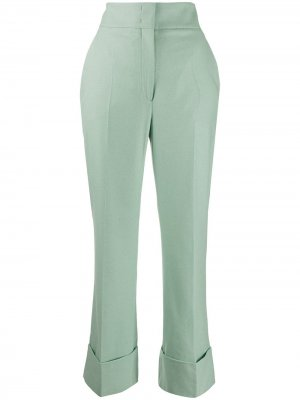Прямые брюки с завышенной талией Alberta Ferretti. Цвет: зеленый