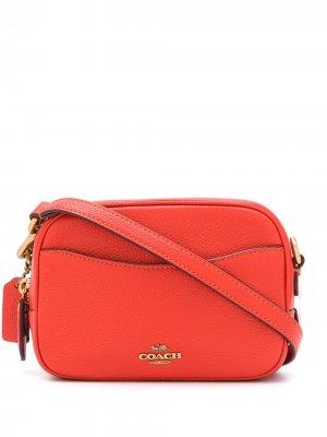 Каркасная сумка Coach. Цвет: оранжевый