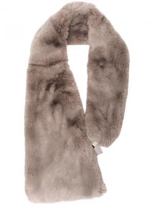 Воротник из искусственного меха Chalayan. Цвет: серый