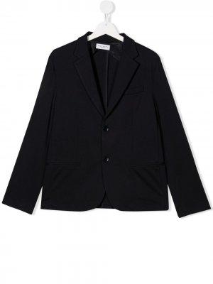 Однобортный пиджак Paolo Pecora Kids. Цвет: синий