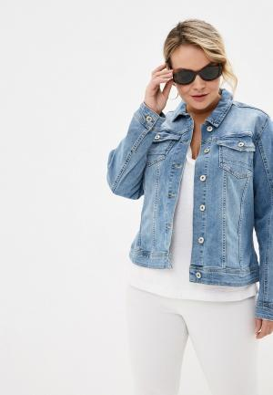 Куртка джинсовая Junarose. Цвет: голубой