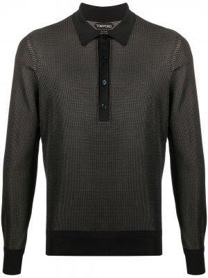 Рубашка-поло с длинными рукавами Tom Ford. Цвет: черный