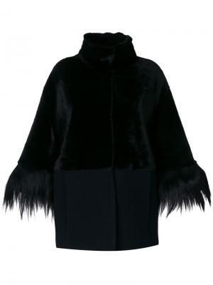 Пальто с высокой горловиной Drome. Цвет: черный
