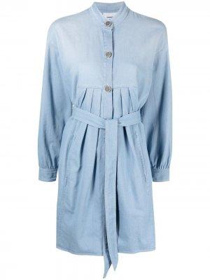 Джинсовое платье-рубашка Dondup. Цвет: синий