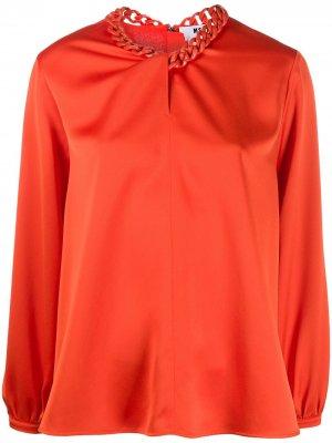 Блузка с цепочкой MSGM. Цвет: оранжевый