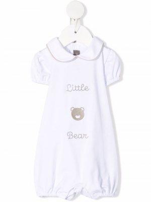 Ромпер с вышивкой Little Bear. Цвет: белый