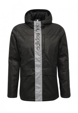 Куртка утепленная adidas Neo. Цвет: черный