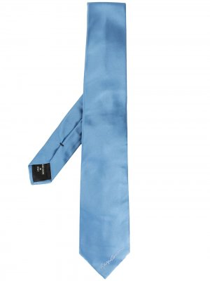 Атласный галстук Giorgio Armani. Цвет: синий