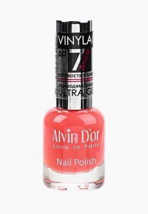 Лак для ногтей Alvin Dor D'or. Цвет: красный