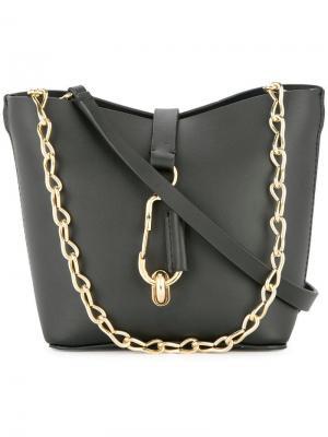 Мини-сумка-хобо Belay Zac Posen. Цвет: черный