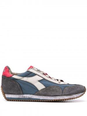 Кроссовки с эффектом потертости Diadora. Цвет: синий