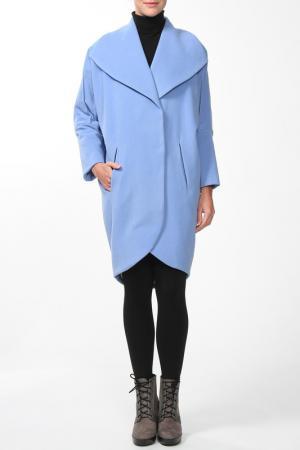 Пальто Анна Чапман. Цвет: голубой