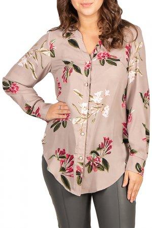 Рубашка BELUCHI. Цвет: бежевый
