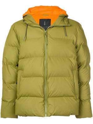Zipped padded jacket Rains. Цвет: зеленый