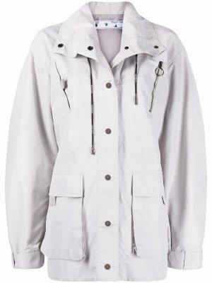 Длинная куртка Safari Off-White. Цвет: серый