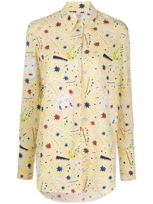 Рубашка с принтом Jazzy Dream Victoria Beckham. Цвет: желтый