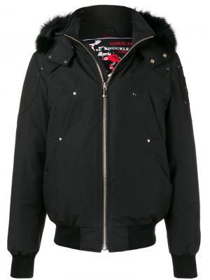 Куртка-бомбер с длинными рукавами Moose Knuckles. Цвет: черный