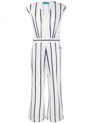 Комбинезон с пуговицами по бокам Mih Jeans. Цвет: белый